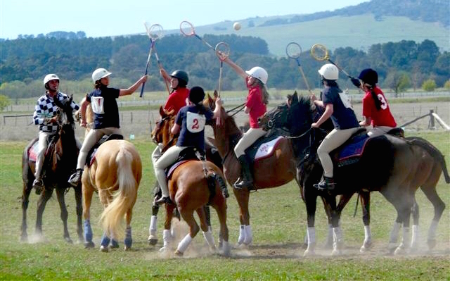 Pony Clubs playing polocrosse