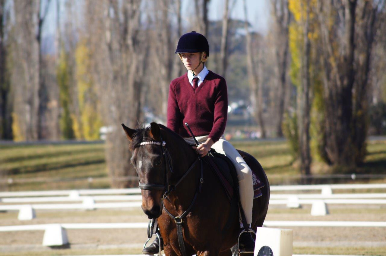 Emily Andres from Bungendore Pony Club riding Caddie