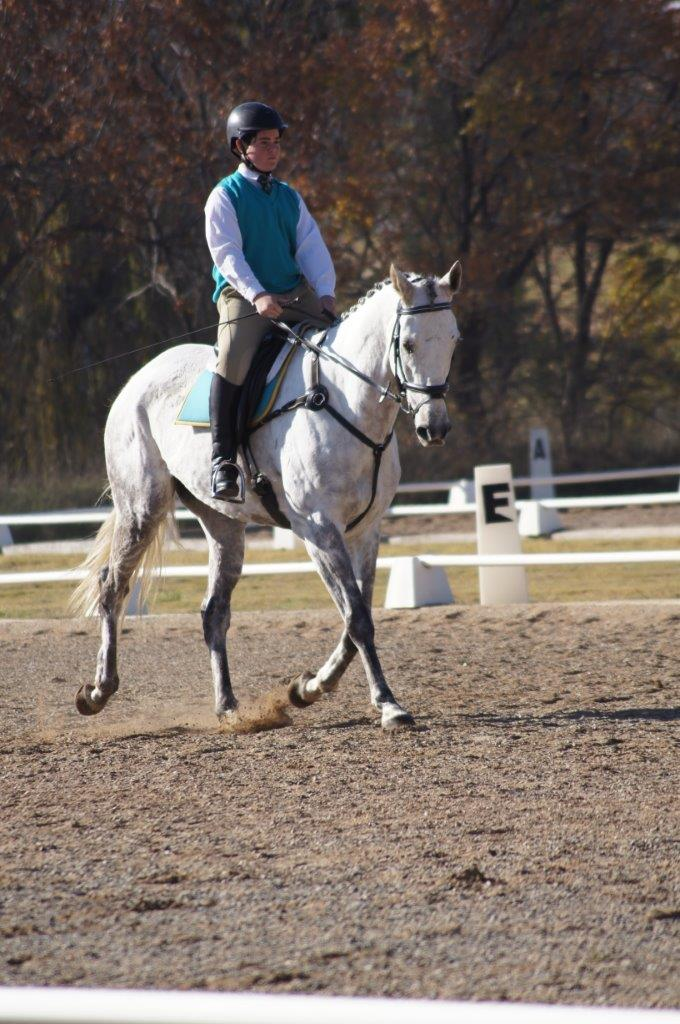 James Smith from Geary's Gap Pony Club riding Tucklan Ghost