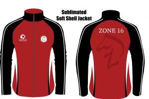 Zone 16 Pony Club soft shell jacket without hood
